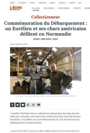 Commémoration du Débarquement: un Eurélien et ses chars américains défilent en Normandie