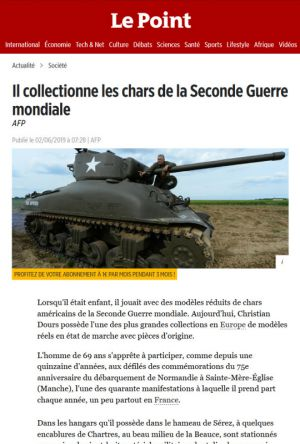 Il collectionne les chars de la seconde guerre mondiale
