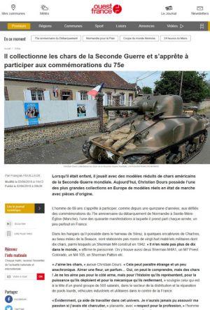 Il collectionne les chars de la Seconde Guerre et s'apprête à participer aux commémorations du 75e anniversaire