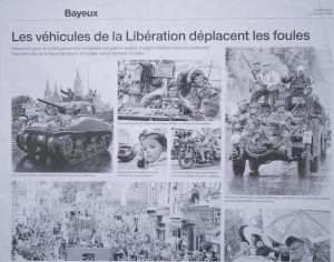 Les véhicules de la Libération déplacent les foules
