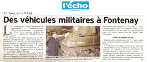 Des véhicules militaires à Fontenay