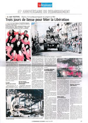 Trois jours de liesse pour fêter la Libération
